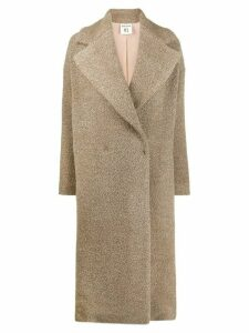 Semicouture double-breasted coat - NEUTRALS