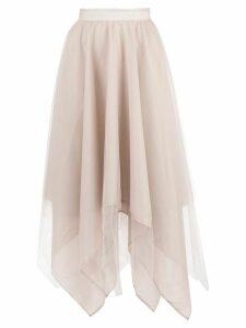 Marc Le Bihan asymmetric hem silk skirt - PINK