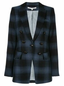 Veronica Beard Hudson oversized plaid blazer - Blue