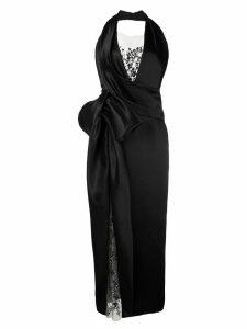 Marchesa halter neck gown - Black