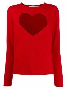 Comme Des Garçons Girl heart-intarsia jumper - Red