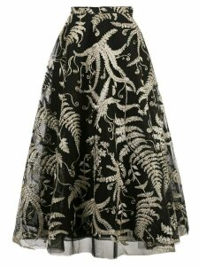 Marchesa embroidered lace skirt - Black