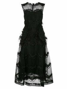 Simone Rocha bead embroidered sheer dress - Black