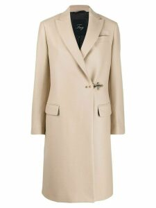Fay lobster-fastening mid-length coat - Neutrals
