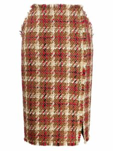 Versace tweed pencil skirt - Brown