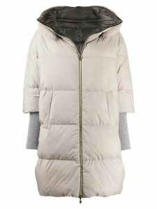 Herno reversible oversized padded coat - Neutrals