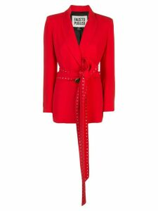 Fausto Puglisi studded-tie blazer - Red