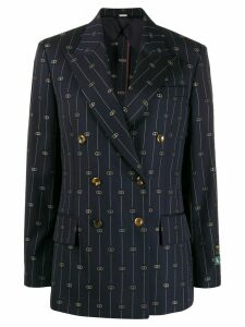 Gucci Retro GG embroidered blazer - Blue