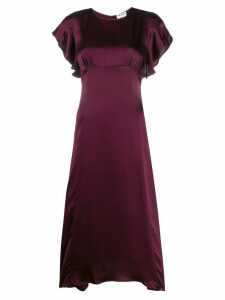Semicouture short-sleeve midi dress - PURPLE