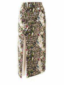 Sulvam asymmetric patterned skirt - Multicolour