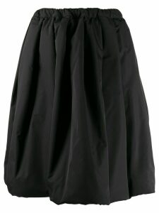 Comme Des Garçons Comme Des Garçons A-line flared midi skirt - Black