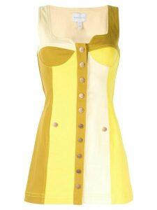 Alice McCall Chelsea Hotel colour-block mini dress - Yellow