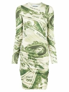 Moschino dollar bill print dress - Green