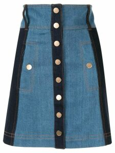 Alice McCall Electric Memories high rise denim skirt - Blue