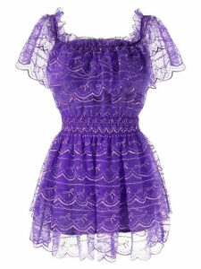 Alice McCall Satellite Of Love frilled mini dress - PURPLE