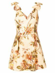 Zimmermann Resistance Tie mini dress - Yellow