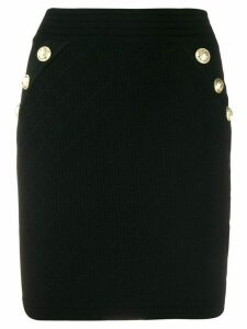 Balmain button-front pencil skirt - Black