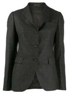 Tagliatore check pattern blazer - Brown