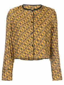 Suzanne Rae geometric jacquard jacket - Yellow