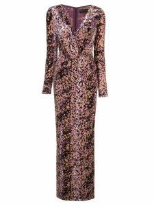 Rachel Zoe speckled-print gown - PINK