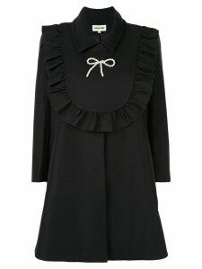 Shushu/Tong tie front coat - Black