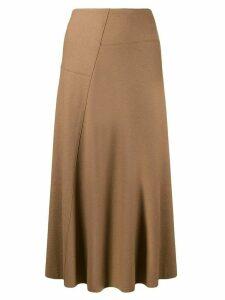 Vince A-line midi skirt - Brown