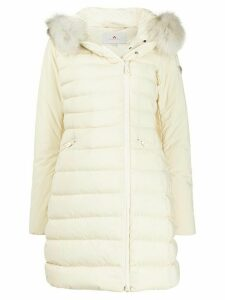 Peuterey fox fur padded hooded coat - Neutrals