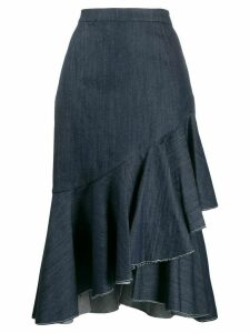 Milla Milla asymmetric pleated denim skirt - Blue