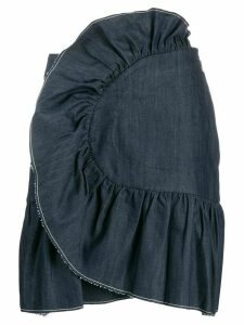 Milla Milla ruffled denim skirt - Blue