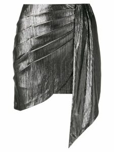 Retrofete draped fitted skirt - Silver