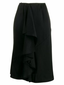 LANVIN ruffle detail skirt - Black