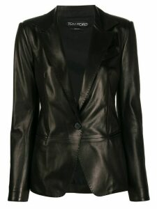 Tom Ford tailored leather blazer - Black