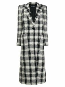 Dolce & Gabbana single buttoned check coat - Black