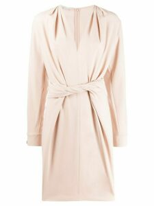 Stella McCartney twist-front split-sleeve dress - Pink