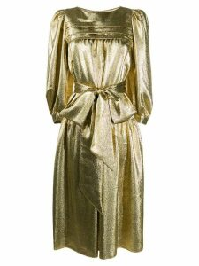 Marc Jacobs metallized puff-sleeves dress - GOLD