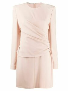 Stella McCartney gathered-panel fitted mini-dress - Pink