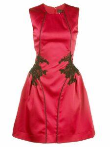 Nha Khanh lace panel mini dress - Red