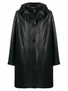 Kassl Editions leather-effect raincoat - Black