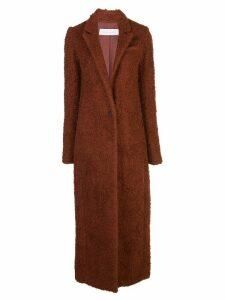 Marina Moscone single-breasted shearling coat - Brown