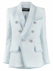Balmain button-front blazer - Blue