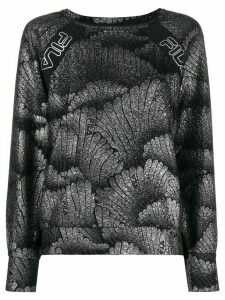 Fila metallic thread long sleeve top - Black
