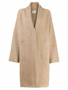 Laneus oversized knit coat - Neutrals