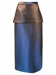 CAMILLA AND MARC Bella metallic skirt - Blue