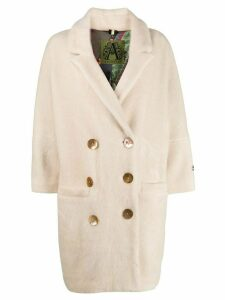 Alessandra Chamonix bead embroidered coat - White