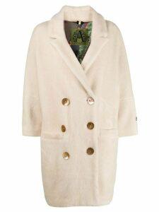 Alessandra Chamonix bead embroidered coat - White