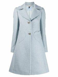 Blumarine heart-pocket single-breasted coat - Blue