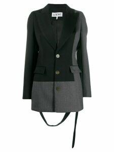 Loewe two-tone patchwork blazer - Black