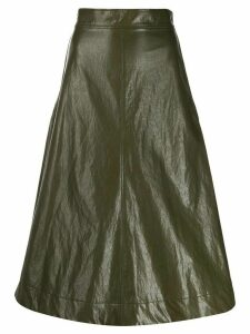 Cédric Charlier high-waisted A-line skirt - Green