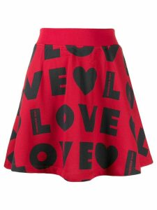 Love Moschino repeat logo print skirt - Red