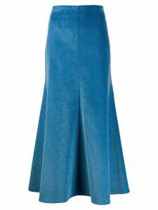 A.W.A.K.E. Mode corduroy a-line skirt - Blue